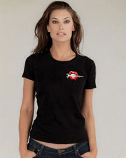 Women's Black Short Sleeve - Spud Lips (Fitted T-Shirt)