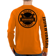 Orange Long Sleeve - Spud Beam - Black Design