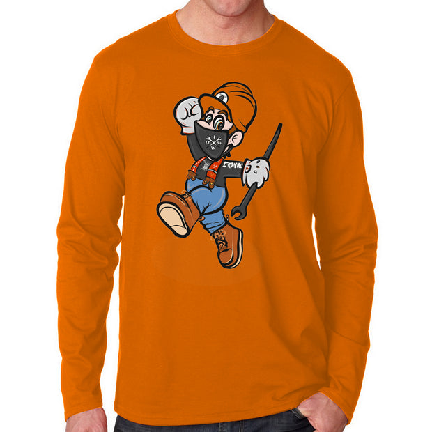 Bobby The Ironworker - Orange Long Sleeve