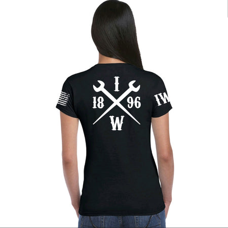 Women's Black Short Sleeve - 1896