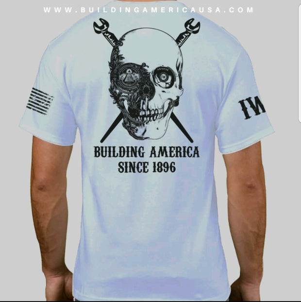 Ironworker Dollar Skull - White Short Sleeve