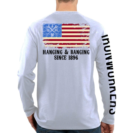 Hanging & Banging Flag - White Long Sleeve