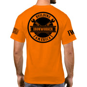 Orange Short Sleeve - Spud Beam - Black Design