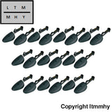 10 Pair Of Men Practical Green Plastic Shoe Tree Stretcher