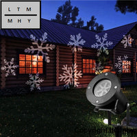 12 Types Christmas Laser Snowflake Projector Outdoor Led Lamp Waterproof Disco Lights Home Garden