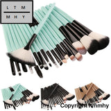 18 Pcs Makeup Brush Set Tools Make-Up Toiletry Kit Wool Make Up