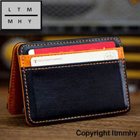 2016 Fashion Women Purse Men Card Package Mini Neutral Magic Bifold Leather Wallet Holder Case