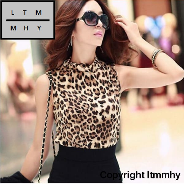 2016 New Fashion Cotton Women Clothing Sexy Blusas Femininas Top Leopard Camisole Shirt Womens Vest