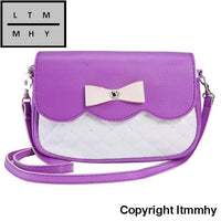2016 Women Bag With Bowknot Fashion Leather Casual Travel Crossbody Shoulder Bags For Female Girls