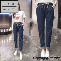 2017 Plus Size Velvet Female Jeans Trousers Big Yards Dress Thickening Denim Pants Long