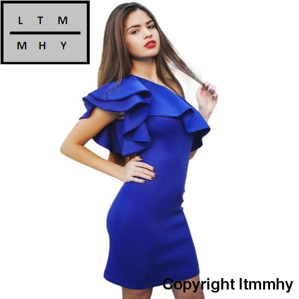 75b5b39bba71 ... 2017 Summer Dress Fashion Women Sleeveless Sexy Off Shoulder Solid Mini  Red Black Blue Vestido Party ...