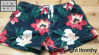 2017 Summer Mens Board Swim Shorts Men Beach Swimming Suit Bermuda Surf Short Flowers Pattern Pocket