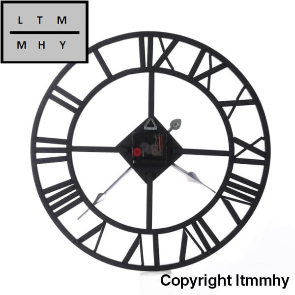 2017 Wall Metal Roman Round Clock Non-Ticking Silent For Home Kitchen Office Diamete