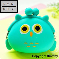 2017 Women Mini Purse Soft Surface Fastener Female Cartoon Silicone Coin Bag Wallets Carteras Mujer