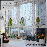 2018 New Flower Color Tulle Door Window Curtain Drape Panel Sheer Scarf Valance Super Deal