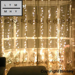 3*3M 300-Led Curtain Light Fairy Christmas Decorations For Home Party Wedding Outdoor Indoor String