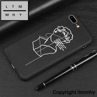 3D Relief Phone Case For Iphone 6 6S 7 8 Plus X 5 5S Se Cover Cute Cartoon Love Heart Soft Tpu Black
