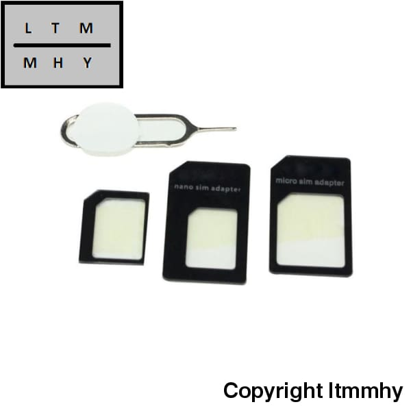 4 Pcs Beautiful Gift Convert Nano Sim Card To Micro Standard Adapter For Iphone High Quality Hot