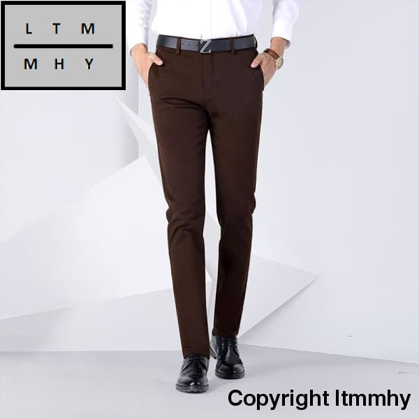 844a16592256 ... Anbican Fashion Winter Mens Chino Pants Brand New Smart Casual Slim Fit  Dress Straight Long Trousers ...