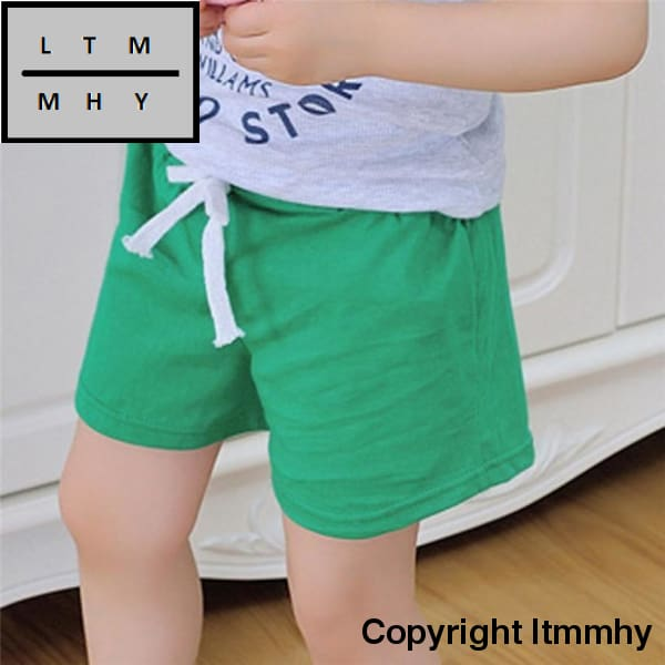 Boys Shorts Kids Clothes 2017 Children Summer Beach For Girls Clothing Solid Color Cotton Unisex