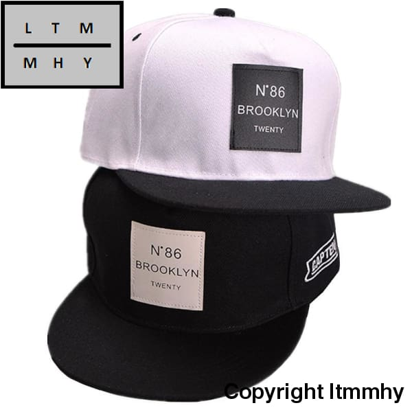 Brooklyn Snapback Baseball Cap Men Black Hip Hop Hat Fashion Letter Patchwork Solid Women Caps
