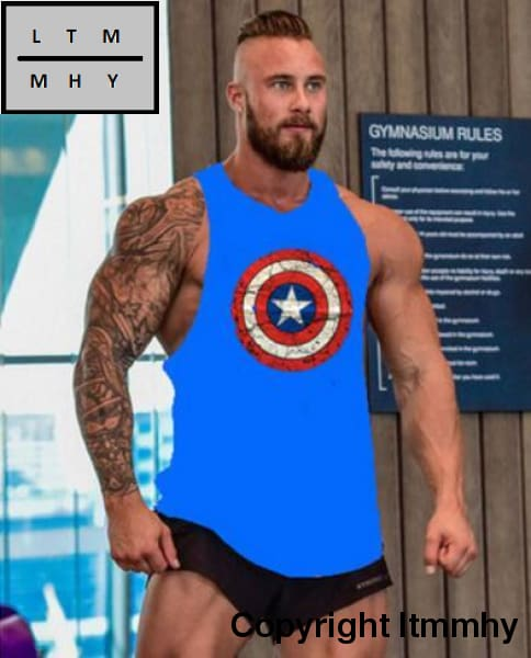23fbd01cbc5bf ... Captain America Gyms Tank Top Bodybuilding Clothing Stringer Singlets  Fitness Men Golds Muscle ...
