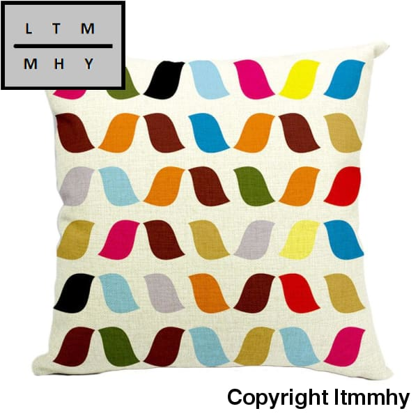 Car Decorative Cushions Cover Geometry Art Cushion Throw Pillow Covers