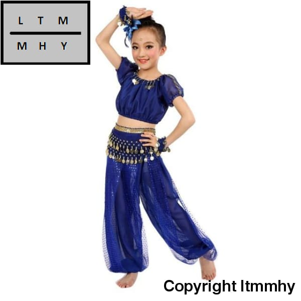 eac30fc4886 Chiffon Belly Dance Clothes 2017 Hot Sale Handmade Girl Costumes Kids  Dancing Beading Egypt Cloth
