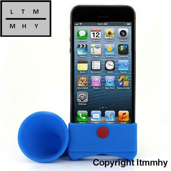 Creative Silicone Iphone Speaker Horn Shape Cell Phone Loudhailer Accessories Holder Stand Gift