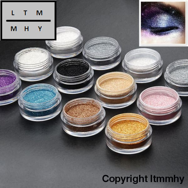 Eye Make Up Face Brighten Highlighter Shining Shimmer Powder Pigment 12 Color Glitter Eyeshadow