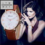 Fahsion Watches Women Ladies Quartz Wrist Bracelet For Woman Pu Leather Strap Wristwatches Montre
