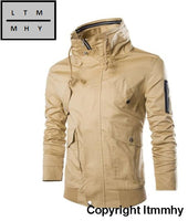 Fashion Design Men Outwear 2015 New Casual Delicate Zipper Stand Collar Jacket Slim Fit 5 Colors