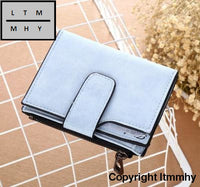 Herald Fashion Lady Letter Wallet Zipper Short Clutch Solid Vintage Matte Women Small Female Purse