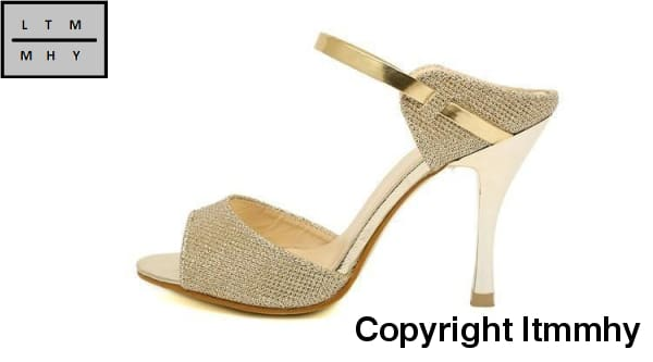 47b2f4f4a1fa ... High Heels Sandals Ankle-Wrap Women Beautiful Ladies Silver Gold Summer  Shoes ...