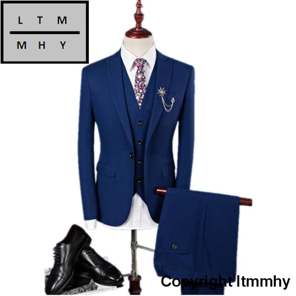 High Quality Wool Elastic Wedding Suits Men Blazer Dress Business Mens Size S-4Xl