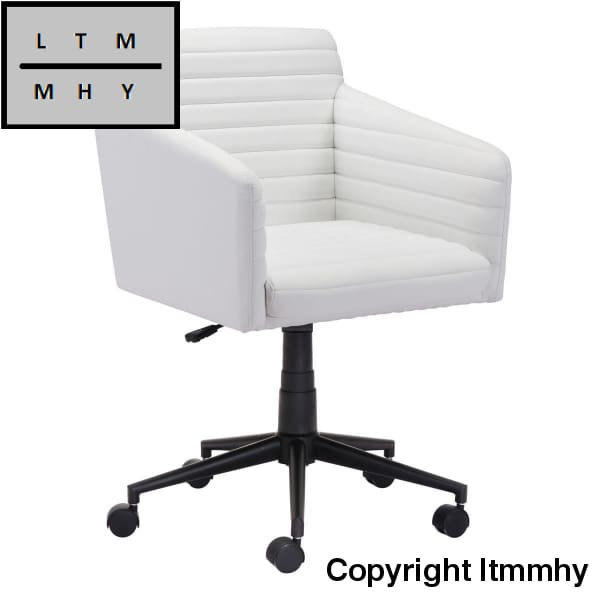 Leather Fabric Office Chair White Ltmmhy Brand