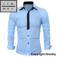 Long Sleeve Men Solid Shirt Ltmmhy Brand Clothing Mens Casual Shirt England Style Fashion Chemise