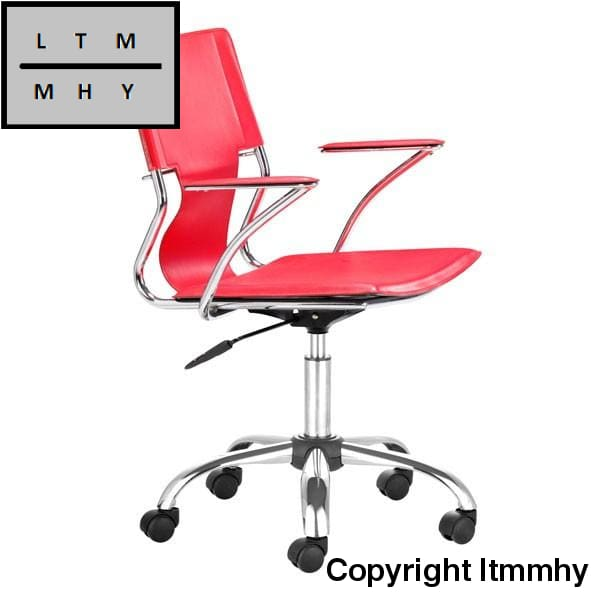 Ltmmhy Chrome Frame Office Chair Red