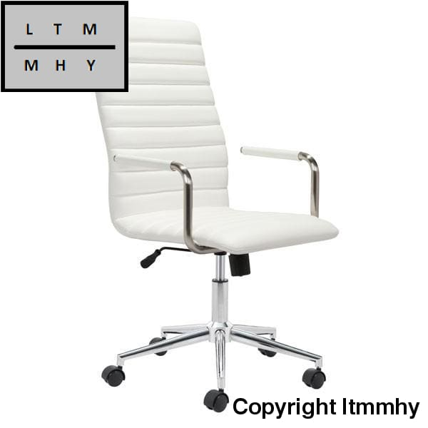 Ltmmhy Pivot Leather Office Chair White