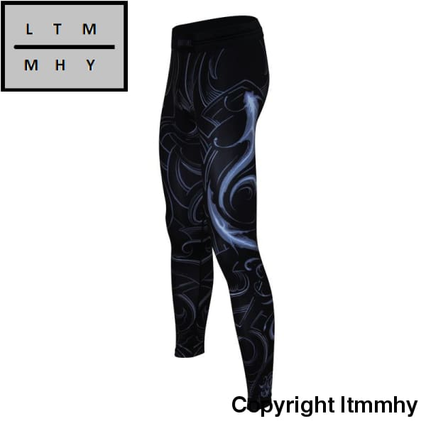 Martial: Pisces Original Design Pants Men Mma Running Leggings Compression Tights Gym Wear Elastic