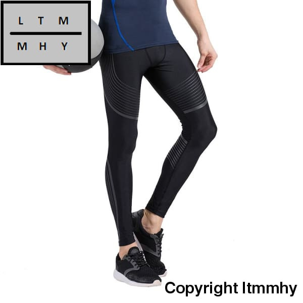 07e2ec50e95e1 ... Men Compression Sports Pants Running Tights Dry Fit Base Layer Jogger  Fitness Gym Mma Wear ...