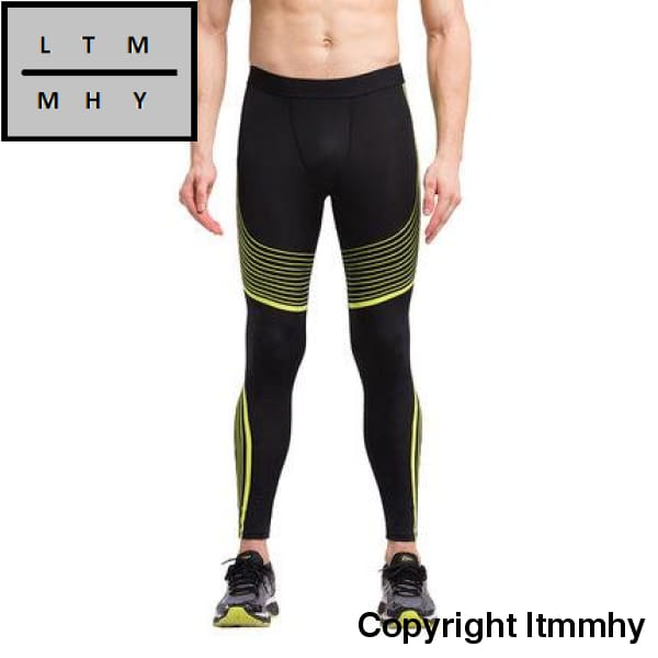 d5837f8afb ... Men Compression Sports Pants Running Tights Dry Fit Base Layer Jogger Fitness  Gym Mma Wear ...