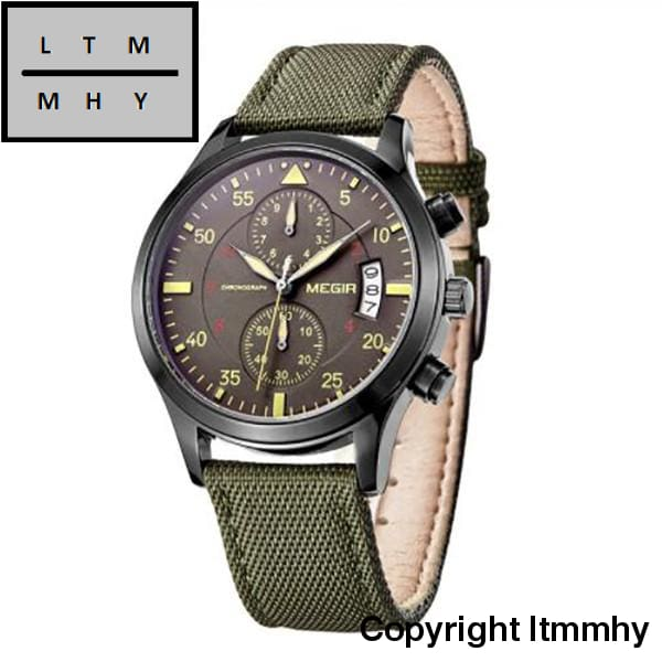 Men Watches Fashion Canvas Military Watch For Gentle Male Quartz Wristwatches