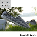 Merkmak Summer Breathable Men Hemp Knited Flat Shoes Fashion Outdoor Style Light Soft Casual Leisure