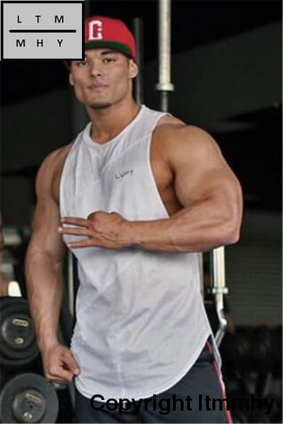 2eb4f10029f0e6 ... Muscle Guys Gyms Clothing Fitness Men Tank Top Mens Bodybuilding  Stringers Tops Workout Singlet ...