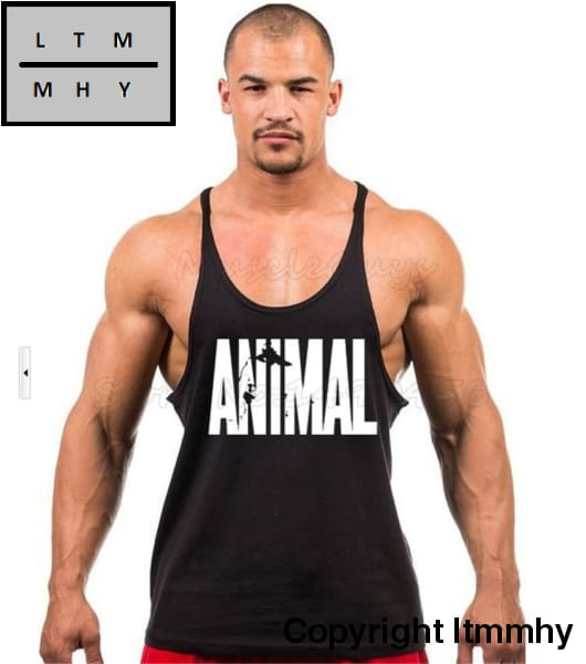 ebb3794a ... Muscleguys Brand Animal Gyms Singlets Mens Tank Tops Shirt Beast Skulls  Bodybuilding Equipment ...