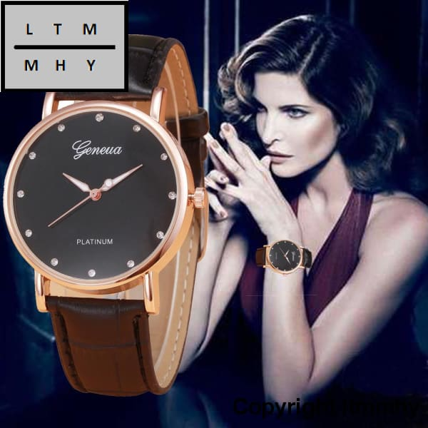 New Fashion Watches Women Wrist Casual Pu Leather Business Quartz Watches Montre Femme