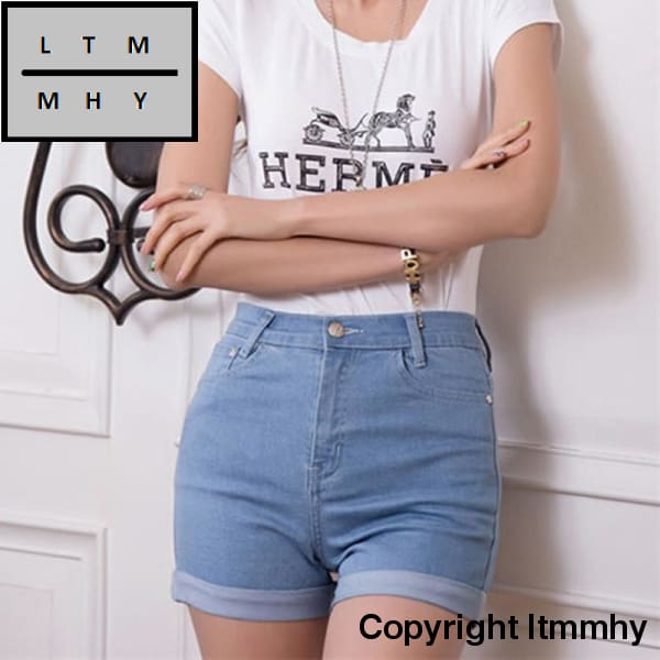 New Fashion Womens Jeans Summer High Waist Stretch Denim Shorts Slim Korean Casual Women Jeans Hot