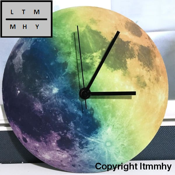 New Luminous Moonlight Wall Clock 3D Watch Moon Glow In The Dark Wall Stickers Home Decor Living