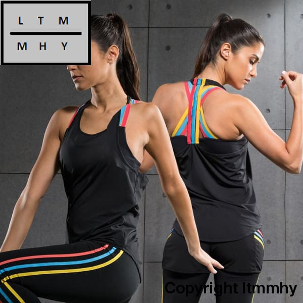 c82fcb68399c3 ... New Yoga Tops Women Sexy Gym Sports Vest Fitness Running Tight Woman Sleeveless  Shirt Quick Dry ...